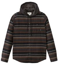 2016 NWT MENS BILLABONG ZIGGY HOODED LONG SLEEVE SHIRT $70 L black