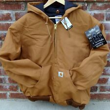 CARHARTT J140 ACTIVE JACKET FLANNEL LINED BROWN MED