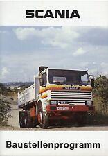 Prospekt 1983 Scania Lkw Baustellenfahrzeuge Baufahrzeuge brochure Nutzfahrzeug