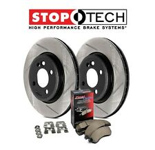 NEW Mini Cooper 07-14 Front StopTech Slotted Brake Rotors + Pads Kit 937.34053