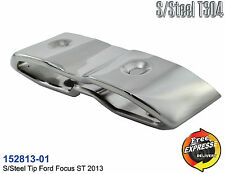 Exhaust tip tailpipe trim s/s  chrome plated cover for Ford Focus ST 152813-01