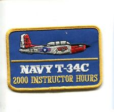 BEECHCRAFT T-34 MENTOR 2000 INSTRUCTOR HOUR US Navy USMC Training Squadron Patch