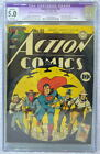 ACTION COMICS #52 CGC 5.0 SUPERMAN 1942 Rare Origin Vigilante retold