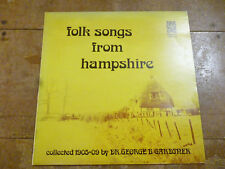Folk songs from Hampshire collected 1905-09 by Dr George B Gardner private press
