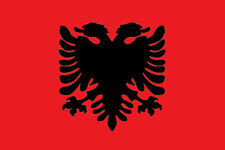 ADESIVO BANDIERA FLAG ALBANIA DECAL STICKER AUTO MOTO!!