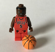 LEGO NBA Basketball Chicago Bulls #5 JALEN ROSE PLAYER MINIFIGURE Spring Legs