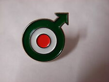 Roundel Italian design with arrow. Mod pin badge. RAF. Vespa Lambretta