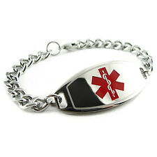 MyIDDr - Unisex -LATEX ALLERGY Medical Alert Bracelet, PRE-ENGRAVED