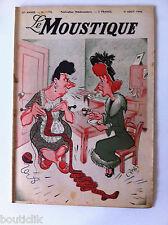 Tv Radio MOUSTIQUE 8/08/1948: couverture Carto/ R. Cummings/ Institut Sourd-Muet
