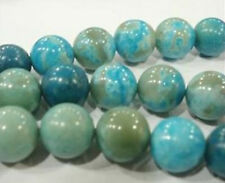 "8mm AAA Blue Crazy Lace Agate Round Loose Beads 15"" LL005"