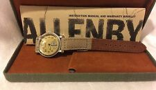 Vintage ALLENBY & CO - Chronograph Swiss Movement Leather Band - Watch Mens