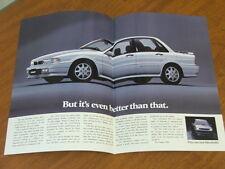 c1990 Mitsubishi Galant VR4 original Australian 4 page brochure