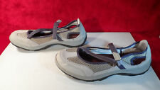 Flats Lands End Loafers Mary Jane 10 B Flats Comfort Shoes Gray Leather 41.5