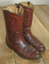 Vintage Red Wing Pecos Boots-12B-Oiled Leather-Made in USA-UNION MADE-Goodyear