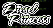 Diesel Princess - 4 x 4 Truck Lover - Vinyl Die-Cut Peel N' Stick Sticker/Decal