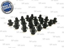 NEW 20X 8MM FASTENER SCREW PUSH TYPE REPLACEMENT BUMPER TRIM PLASTIC CLIPS