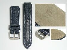 AUTHENTIC TECHNOMARINE GENUINE LEATHER STRAP BAND BLUE DENIM 17MM