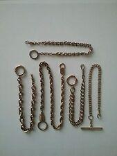 Chaines de montre gousset en métal doré  ( lot de 5 pieces )