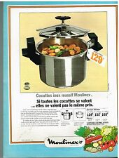 Publicité Advertising 1974 Autocuiseur la Cocotte Moulinex