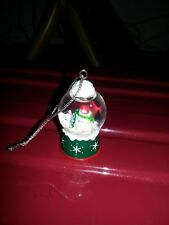 Mini Snowman Snow Globe Ornament