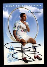 Julien Rodriguez autografiada mapa Olympic marsella 2007-08 original sign +a41819