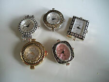 SET OF 5 ASSORTED WATCH FACES FOR BEADING OR OTHER USE