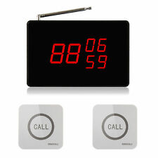 SINGCALL Wireless Kitchen Service Calling System, 1 Screen, 2 Touchable Bells