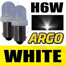 H6W XENON LED ICE SUPER WEIßE STANDLICHTLEUCHTEN 433 434 BAX9S VERSETZTE PINS