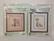 Precious Moments Cross Stitch Kit Lot Sharing Christmas Praise Lord