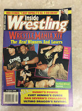 Inside Wrestling Magazine August 1998 Steve Austin Mike Tyson!