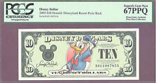 2003 $10 A Disney Dollars DONALD DISNEYLAND RESORT PARIS PCGS 67 PPQ SUPERB GEM