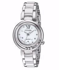 Citizen Women's EM0320-83A Sunrise Diamond Accents Silver Bracelet Dress Watch