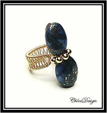 diy pdf tutorial Wire Wrapping Jewelry Lapis Lazuli Adjustable Ring,casual,Wicca