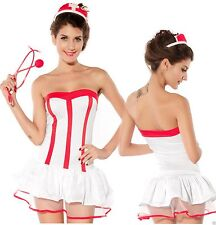 Ladies naughty Nurse Costume No 2 Hen outfit role play fancy dress size 8/10/12
