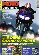 B35- Moto Journal N°1558 BMW R 1150 GS,Defis Suzuki SV 1000 S