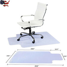 "48"" x 36"" PVC Home Office Chair Floor Mat 1.50mm Thick with Lip For Wood/Tile"