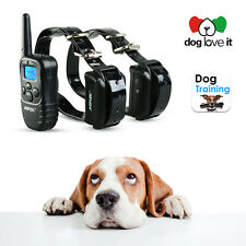 Waterproof Rechargeable LCD 100LV Level 2 Shock Vibra Remote Dog Training Collar