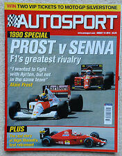 Autosport magazine 13th August 2015 - Prost v Senna