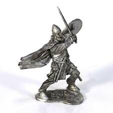 """Tin toy soldier """"Viking, 11th cent."""" metal sculpture 1/32 (54mm) #M72"""