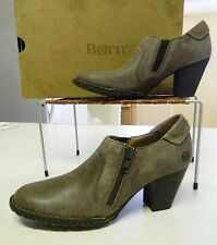 Born Carteret Leather Shotie Shoe Boots 11/43 Taupe/Barnwood New Comfy Fun Jeans