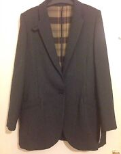 Mango UK Size 12 Large L Oversize Flecked Blazer Elbow Patch Covertible Collar