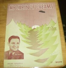 Sheet Music My Cabin Of Dreams 1937