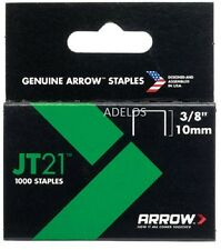 ARROW-jt21 t27 Staples 10mm (3/8in) BOX 1000