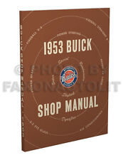 1953 Buick Shop Manual Special Super Roadmaster Skylark Repair Service Book