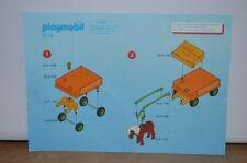 7863 playmobil bouwplan  kinder ponywagen 3118