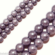 MAGNETIC HEMATITE BEADS PEARLIZED LAVENDER COLOR 4MM