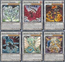 Yugioh 5D Signers - Stardust Dragon + Black Rose Dragon + Red Dragon Archfiend