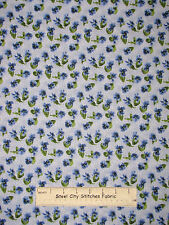 RJR Lovely Pansy Fabric ~ 100% Cotton By The Yard ~ #1447 Pansies Flower Dots