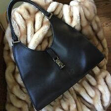 Gucci Black Leather Large Hobo
