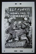 Lg. Production Art SGT. FURY & HIS HOWLING COMMANDOS #29 cover, DICK AYERS art